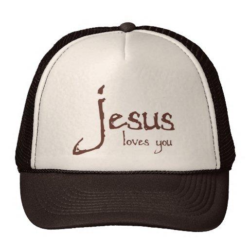 Jesús le ama gorro