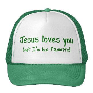 ¡Jesús le ama! Gorros