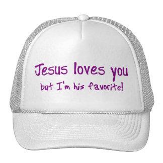 ¡Jesús le ama! Gorros Bordados