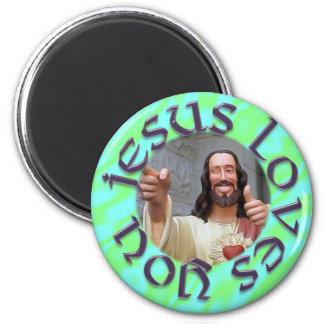 Jesús le ama iman de frigorífico
