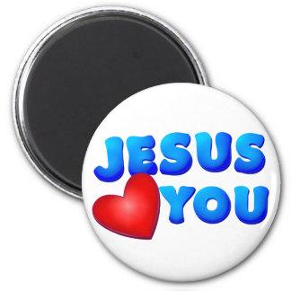 Jesús le ama imán de frigorífico
