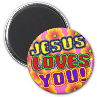 ¡Jesús le ama!  Imán
