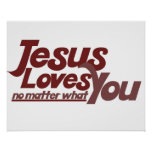 Jesús le ama impresiones