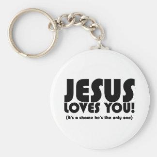 Jesús le ama llavero