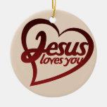 Jesús le ama ornamentos de reyes magos