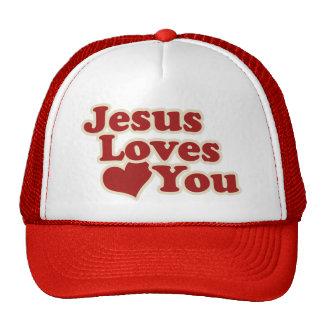 Jesús le ama para los cristianos gorras
