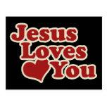 Jesús le ama para los cristianos postal