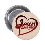 Jesús le ama pins