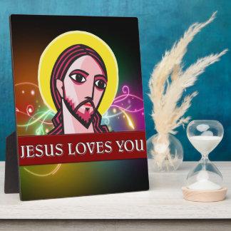 JESÚS LE AMA PLACAS DE PLASTICO