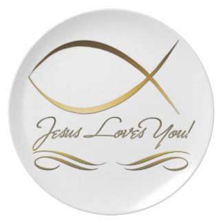 Jesús le ama plato de comida
