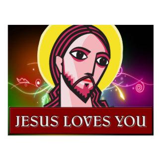 JESÚS LE AMA POSTAL