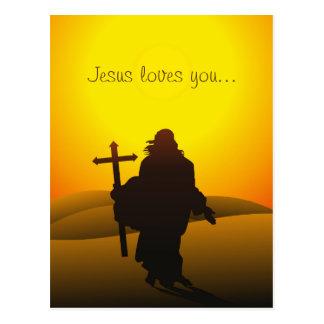 Jesús le ama postal de Pascua