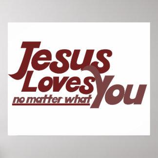 Jesús le ama póster