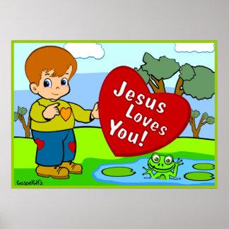 ¡Jesús le ama! Póster
