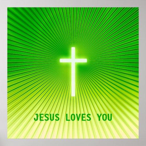 JESÚS LE AMA - poster cristiano