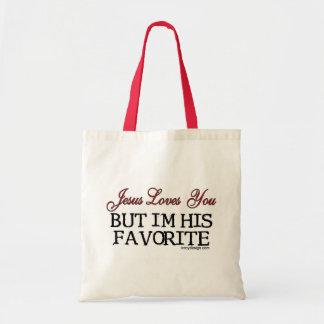 Jesús le ama preferido bolsa tela barata