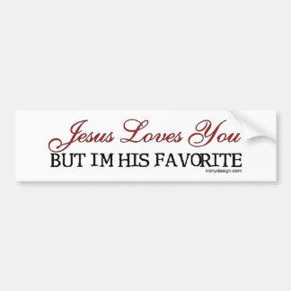 Jesús le ama preferido pegatina de parachoque