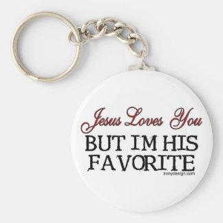 Jesús le ama preferido llavero redondo tipo pin