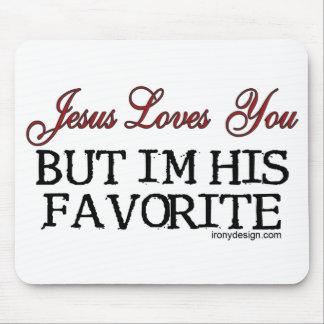 Jesús le ama preferido tapetes de raton