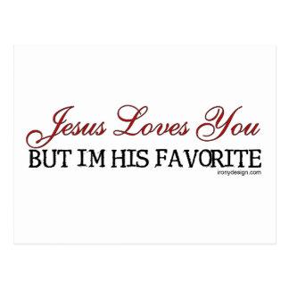 Jesús le ama preferido tarjeta postal