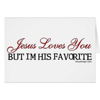 Jesús le ama preferido tarjetón
