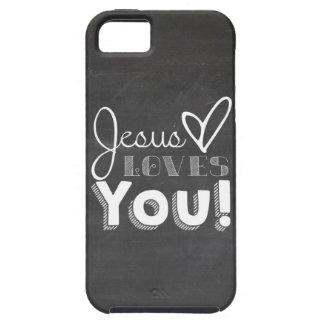 Jesús le ama regalo funda para iPhone 5 tough