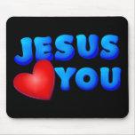 Jesús le ama tapete de ratones