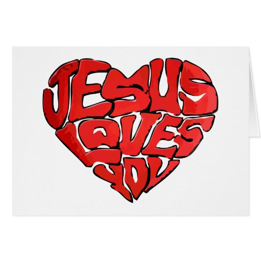 Jesús le ama tarjeta