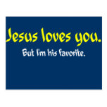 Jesús le ama tarjeta postal