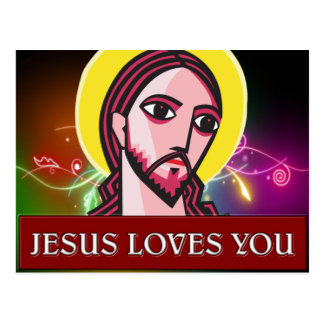 JESÚS LE AMA POSTALES