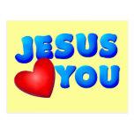 Jesús le ama tarjetas postales