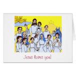 Jesús le ama tarjeton