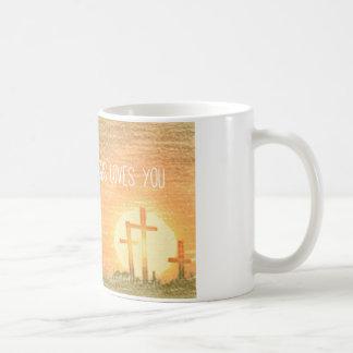 ¡Jesús le ama! Taza Básica Blanca
