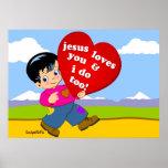 ¡Jesús le ama y hago también! Posters