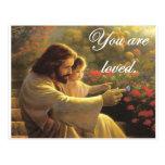 Jesús le aman postal