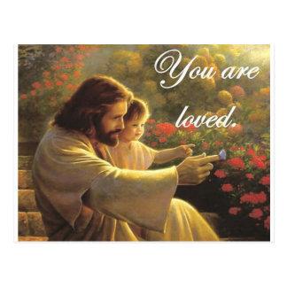 Jesús le aman postales