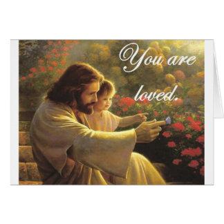 Jesús le aman tarjeta de felicitación