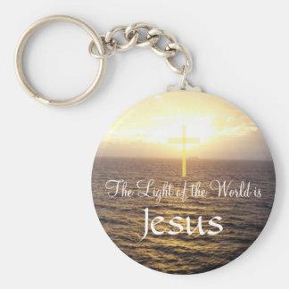 Jesus-Light of the World Basic Round Button Keychain