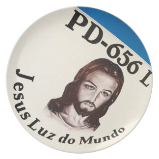 Jesus Light of the World Plate