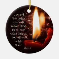 Jesus Light Of The World Psalm 8, Custom Christmas Ceramic Ornament at Zazzle