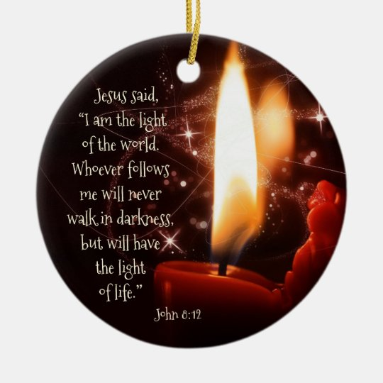Jesus Ornaments Jesus Ornament Designs: Jesus Light Of The World Psalm 8, Custom Christmas Ceramic