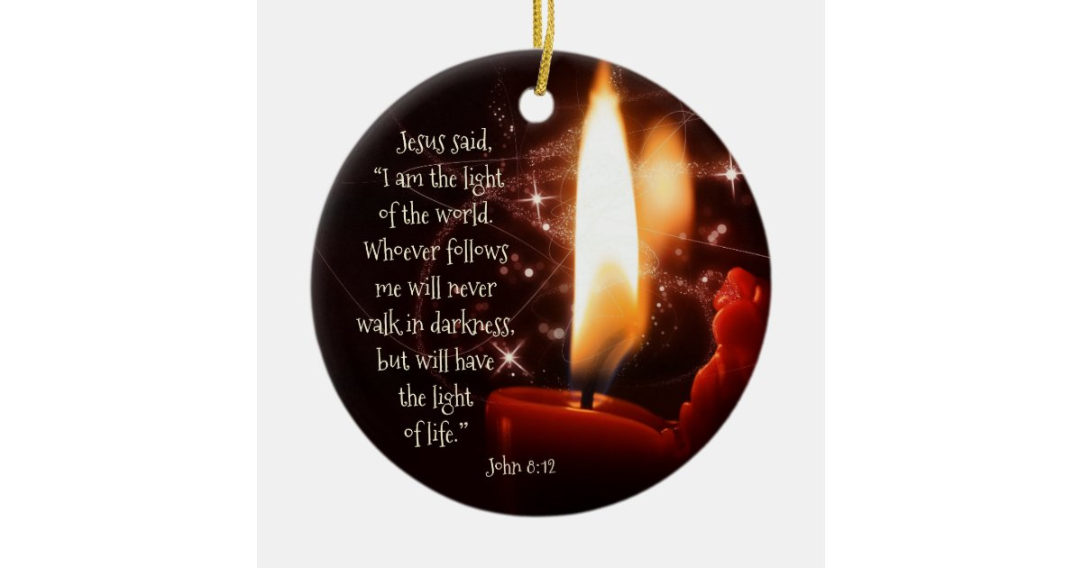 Jesus Light of the World Psalm 8, Custom Christmas Ceramic Ornament ...
