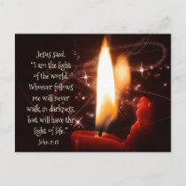 Jesus Light of the World Psalm 8, Custom Christmas Holiday Postcard