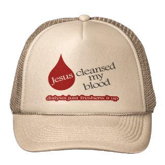 Jesús limpió mi sangre. La diálisis la refresca Gorros Bordados
