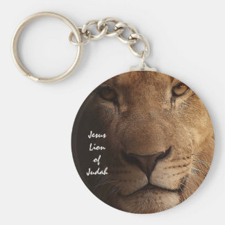 Jesus Lion of Judah Inspirational Christian Quote Keychain