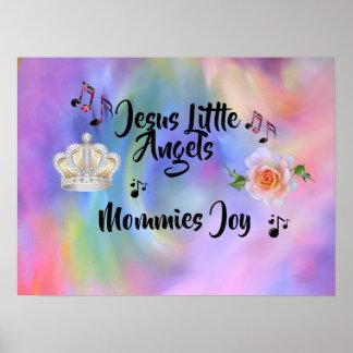 Jesus Little Angels Mommies Joy Poster