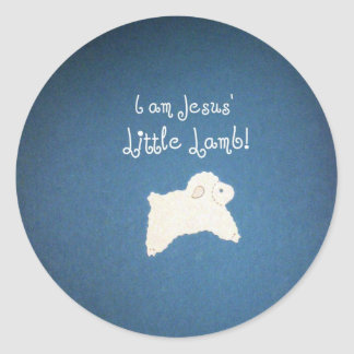 Jesus' Little Lamb Classic Round Sticker