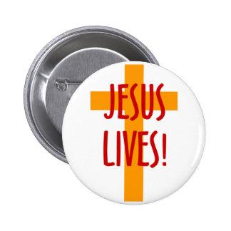 JESUS LIVES BUTTON