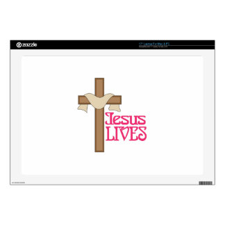 Jesus Lives Decal For Laptop