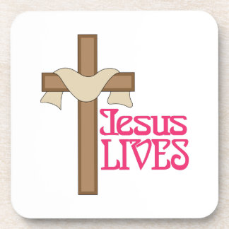 Jesus Lives Drink Coaster